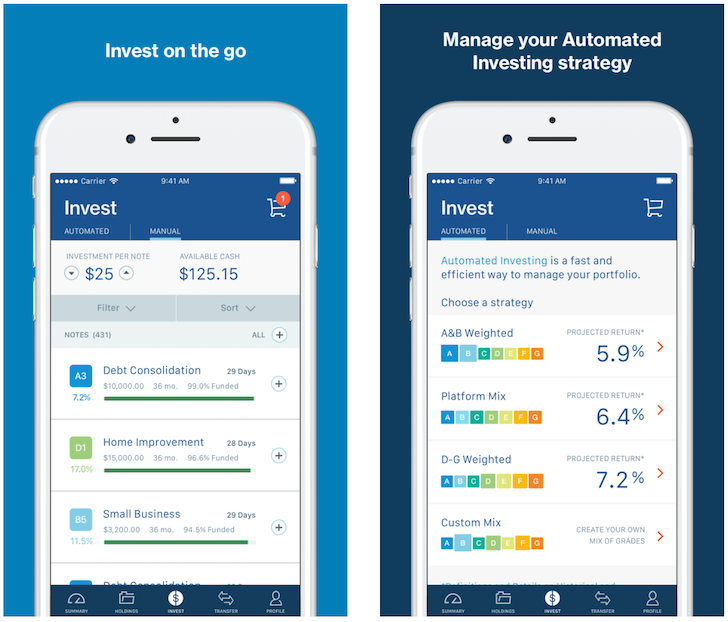 LendingClub Mobile app for iOS