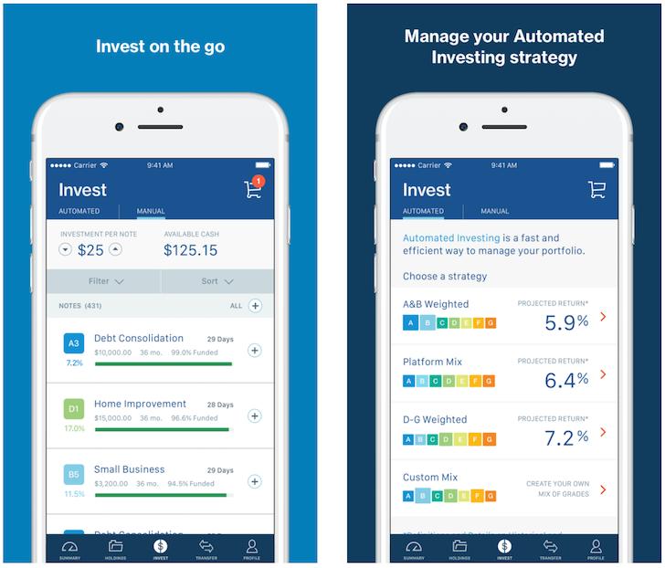 LendingClub Mobile app for iOS
