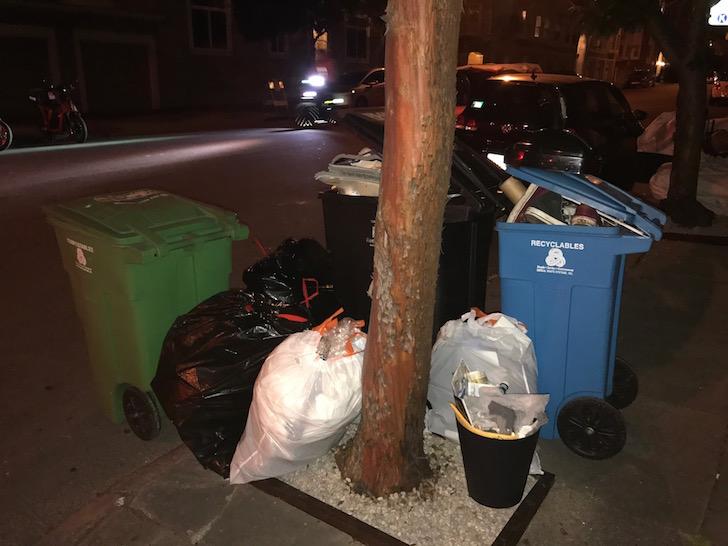 Trash before