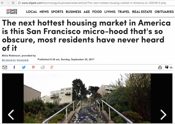 Golden Gate Heights featured in SF Chronicle and Business Insider