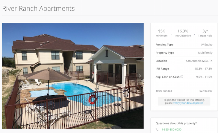 River Ranch Apartments at Canyon Lake, Texas RealtyShares deal