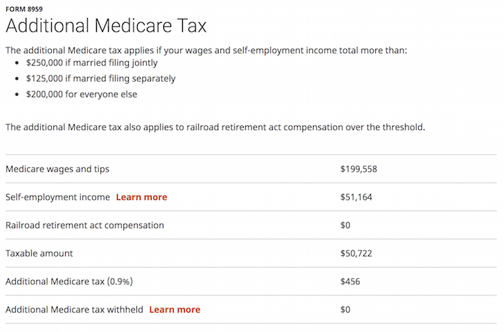 Additional Medicare Tax Example