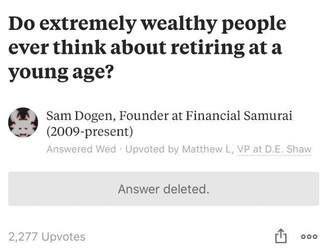 Quora randomly deletes answers