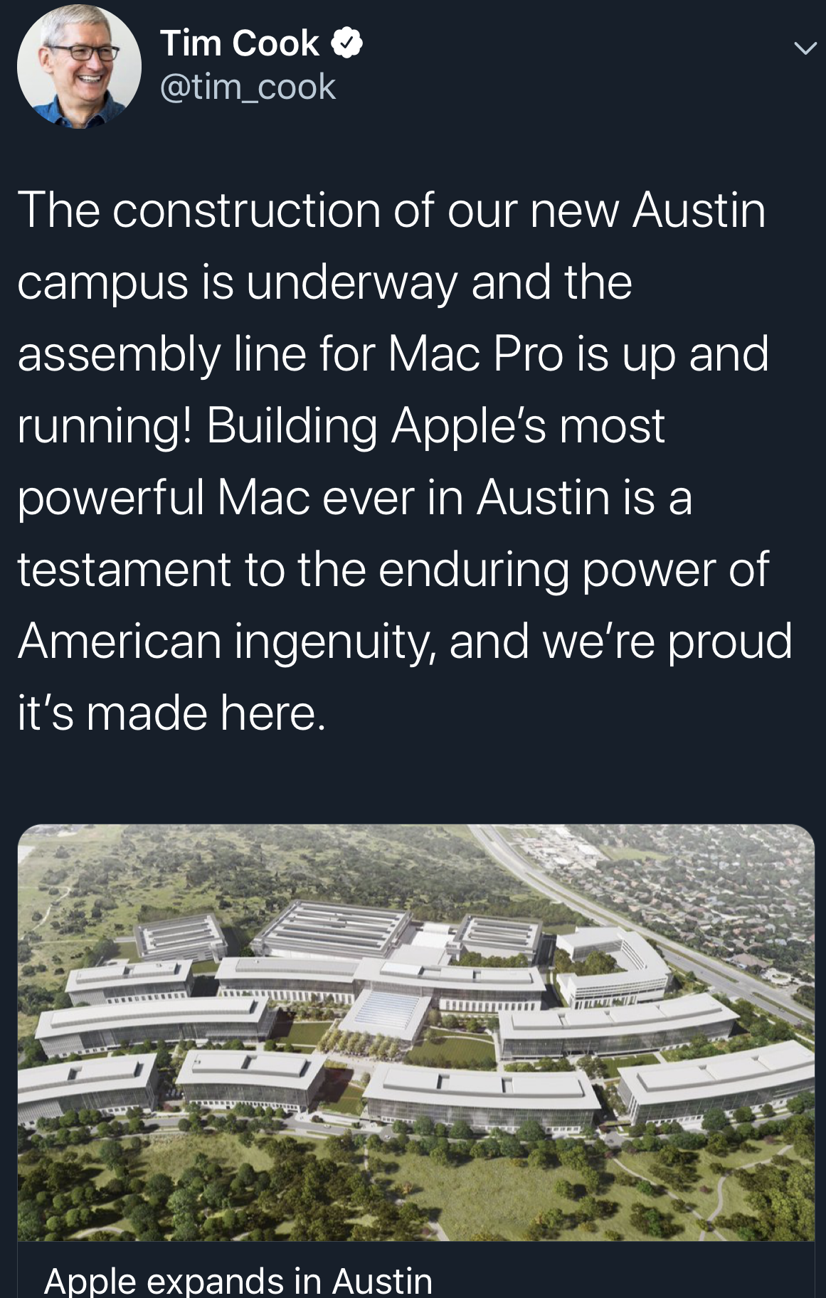 Apple expands in Austin, Texas 2019