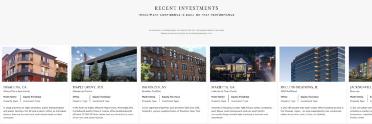 RealtyMogul Review: Recent Real Estate Crowdfunding Investments