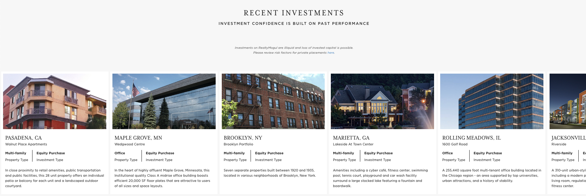 Fundrise real estate crowdfunding investments
