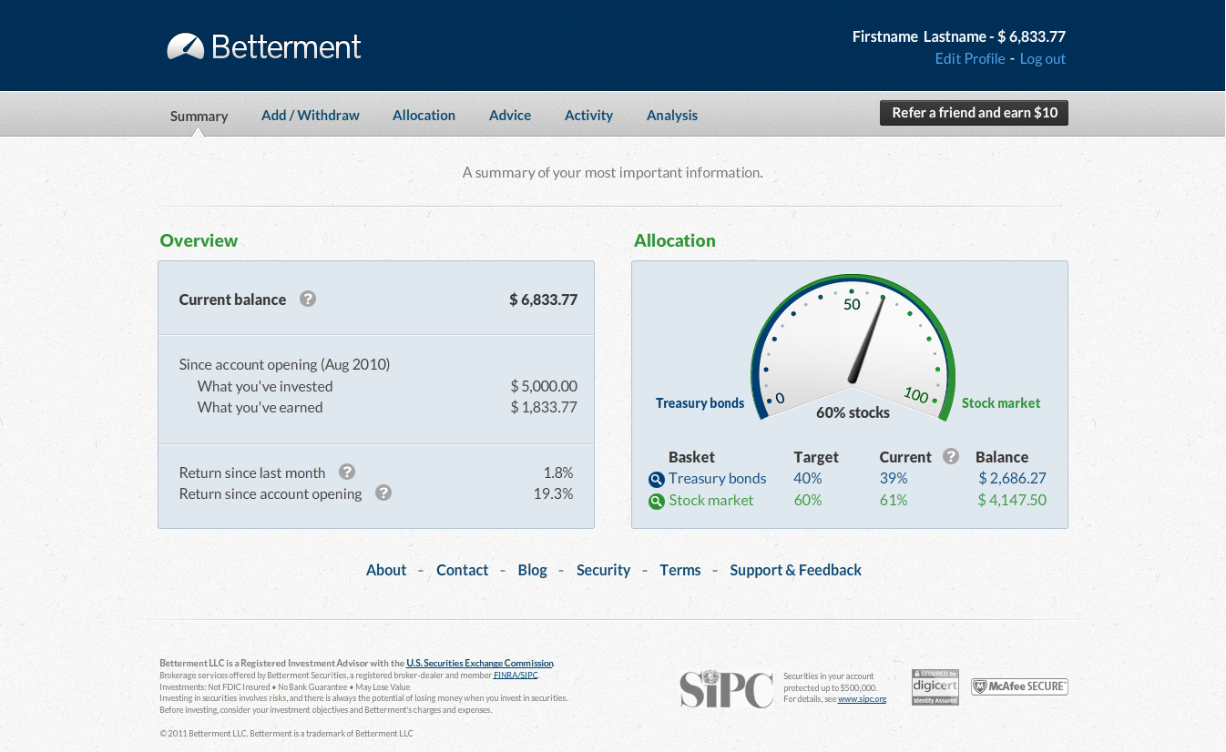 Why Betterment is better than Vanguard