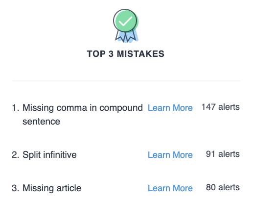 Top 3 Grammar Mistakes