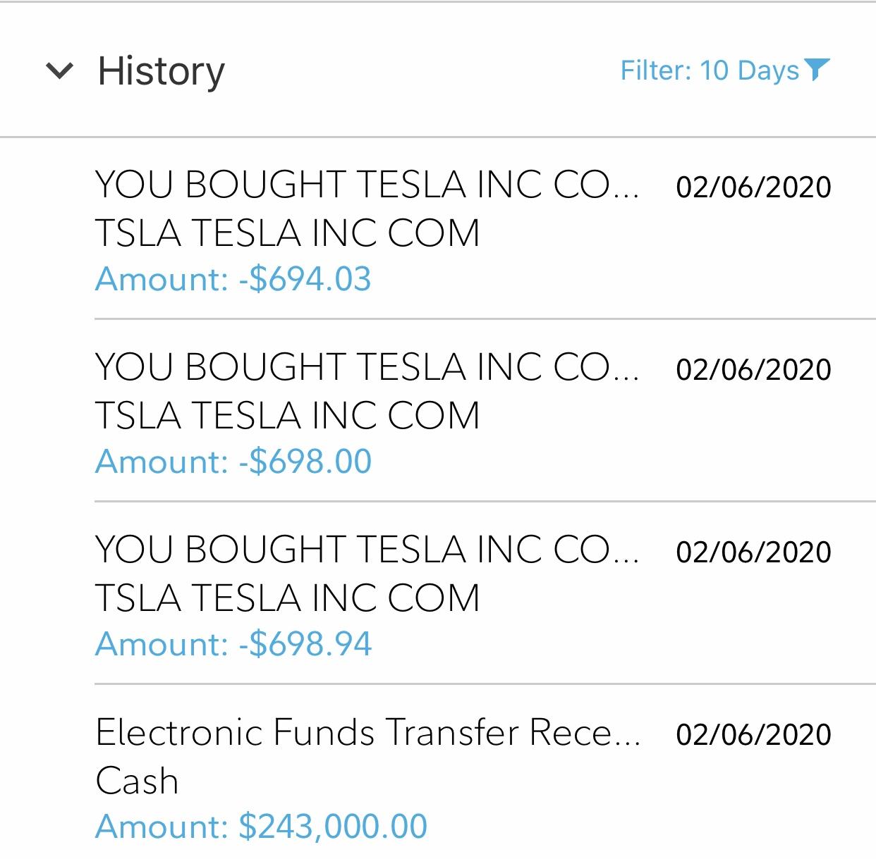 Financial Samurai purchasing Tesla stock